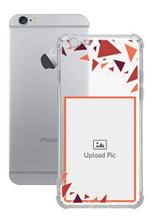 Triangle Flakes Design For iPhone 6 Personalised Transparent Clear Phone Case