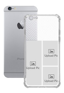 3 images For iPhone 6 Your Photo on Transparent Mobile Cases