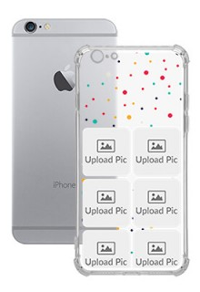6 images Dotted Design For iPhone 6 Customized Transparent Mobile Cases