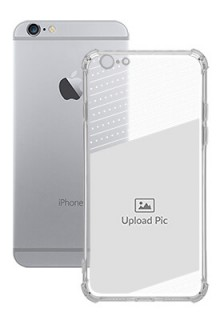 Black Dotted Design with Text For iPhone 6 Personalised Transparent Clear Phone Case