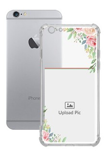 Floral Design Theme For iPhone 6 Your Photo on Transparent Mobile Cases