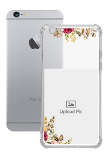 Floral Design For iPhone 6 Custom Transparent Clear Phone Case