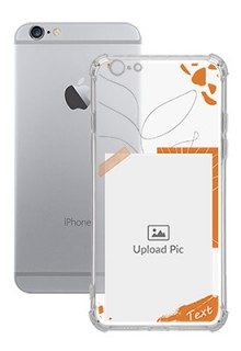 Orange Photo Frame For iPhone 6 Your Photo on Transparent Mobile Cases