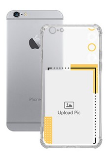 Yellow Photo Frame For iPhone 6 Customized Transparent Mobile Cases