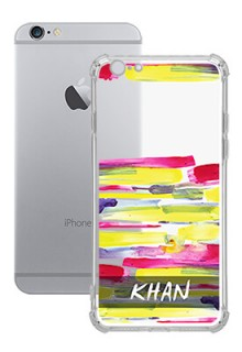 Brush Coloured For iPhone 6 Your Photo on Transparent Mobile Cases