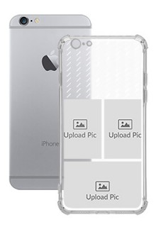 3 images with Text For iPhone 6s Custom Transparent Clear Phone Case