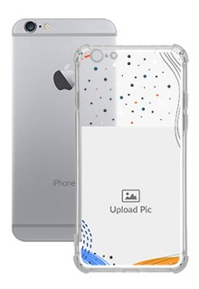Wave Lines Dotted For iPhone 6s Your Print on Transparent Phone Cases