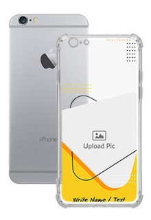 Yellow Triangle For iPhone 6s Your Print on Transparent Mobile Cases