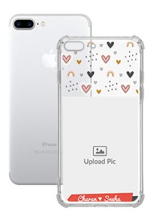 Love Pattern For iPhone 8 Plus Your Photo on Transparent Mobile Cases