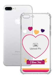Love Shape images For iPhone 8 Plus Custom Transparent Clear Phone Case