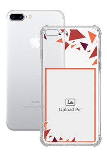 Triangle Flakes Design For iPhone 8 Plus Personalised Transparent Clear Phone Case