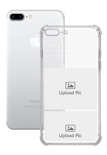 2 images For iPhone 8 Plus Customized Transparent Mobile Cases