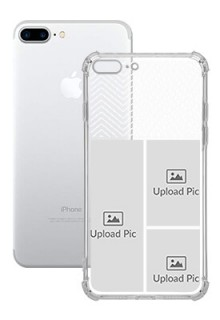3 images For iPhone 8 Plus Your Photo on Transparent Mobile Cases