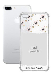 Love Theme For iPhone 8 Plus Personalised Transparent Clear Phone Case