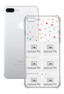 6 images Dotted Design For iPhone 8 Plus Customized Transparent Mobile Cases