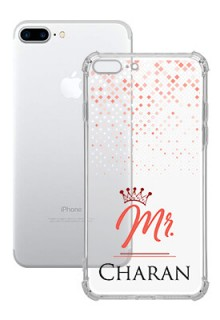 Triangle Dotted Design with Mr Text For iPhone 8 Plus Your Photo on Transparent Mobile Cases