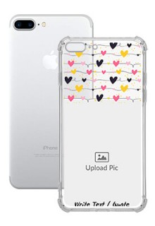 Love Multicolored For iPhone 8 Plus Customized Transparent Mobile Cases