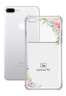 Floral Design Theme For iPhone 8 Plus Your Photo on Transparent Mobile Cases