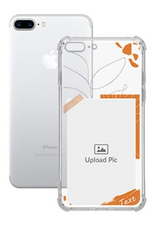 Orange Photo Frame For iPhone 8 Plus Your Photo on Transparent Mobile Cases