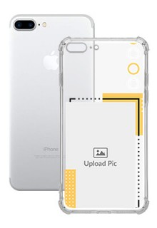 Yellow Photo Frame For iPhone 8 Plus Customized Transparent Mobile Cases