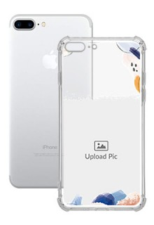 Water Colour Splash For iPhone 8 Plus Your Photo on Transparent Mobile Cases