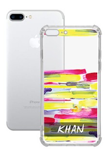 Brush Coloured For iPhone 8 Plus Your Photo on Transparent Mobile Cases