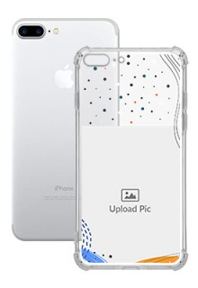 Wave Lines Dotted For iPhone 8 Plus Your Print on Transparent Phone Cases