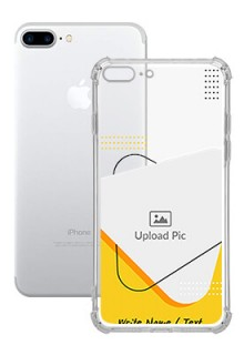 Yellow Triangle For iPhone 8 Plus Your Print on Transparent Mobile Cases