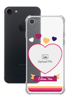 Love Shape images For iPhone SE 2020 Custom Transparent Clear Phone Case