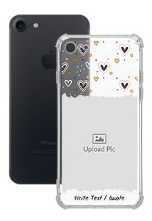 Love Theme For iPhone SE 2020 Personalised Transparent Clear Phone Case