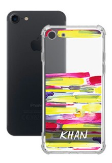 Brush Coloured For iPhone SE 2020 Your Photo on Transparent Mobile Cases