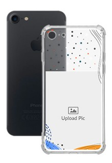 Wave Lines Dotted For iPhone SE 2020 Your Print on Transparent Phone Cases