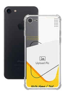 Yellow Triangle For iPhone SE 2020 Your Print on Transparent Mobile Cases
