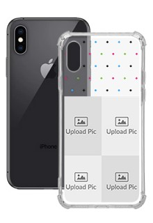 4 images For iPhone XS Custom Transparent Clear Phone Case