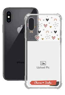 Love Pattern For iPhone XS Your Photo on Transparent Mobile Cases