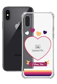Love Shape images For iPhone XS Custom Transparent Clear Phone Case