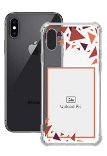 Triangle Flakes Design For iPhone XS Personalised Transparent Clear Phone Case