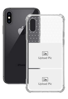 2 images For iPhone XS Customized Transparent Mobile Cases