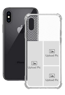 3 images For iPhone XS Your Photo on Transparent Mobile Cases