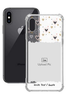 Love Theme For iPhone XS Personalised Transparent Clear Phone Case