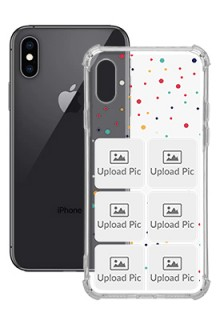 6 images Dotted Design For iPhone XS Customized Transparent Mobile Cases