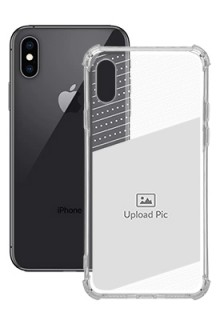 Black Dotted Design with Text For iPhone XS Personalised Transparent Clear Phone Case