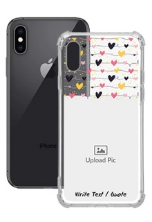 Love Multicolored For iPhone XS Customized Transparent Mobile Cases