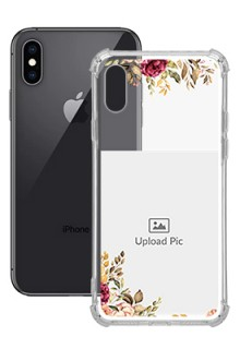 Floral Design For iPhone XS Custom Transparent Clear Phone Case