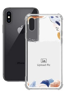 Water Colour Splash For iPhone XS Your Photo on Transparent Mobile Cases