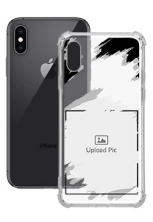Grunge Brush Strokes For iPhone XS Custom Transparent Clear Phone Case