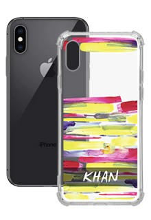 Brush Coloured For iPhone XS Your Photo on Transparent Mobile Cases