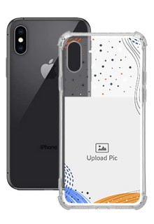 Wave Lines Dotted For iPhone XS Your Print on Transparent Phone Cases