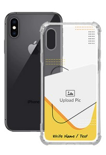 Yellow Triangle For iPhone XS Your Print on Transparent Mobile Cases