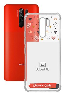 Love Pattern For Poco M2 Your Photo on Transparent Mobile Cases